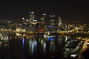 Upmc Metal Prints - Pittsburgh at Christmas Metal Print by Nathan Ealy