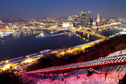 Monongahela Duquesne Incline Prints - Pittsburgh at Night Print by Mark Van Scyoc