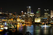 Jay Nodianos Metal Prints - Pittsburgh Autumn Night 1 Metal Print by Jay Nodianos