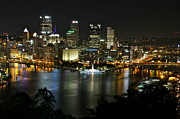 Jay Nodianos Metal Prints - Pittsburgh Autumn Night 2 Metal Print by Jay Nodianos