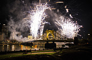 Pittsburgh Pirates Prints - Pittsburgh Bridge Print by Dwayne Spandel
