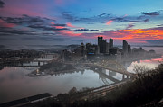 Monongahela Duquesne Incline Prints - Pittsburgh January Thaw Print by Jennifer Grover