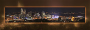 Rachel Carson Art - Pittsburgh Light Up Night with blurred border by Matt Kisasonak