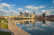 Allegheny River Posters - Pittsburgh North Sore Poster by Emmanuel Panagiotakis