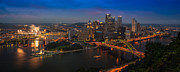 Downtown Pittsburgh Framed Prints - Pittsburgh PA Framed Print by Steve Gadomski