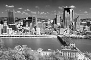 Pittsburgh Prints - Pittsburgh Pennsylvania Black and White Print by Steve Sturgill