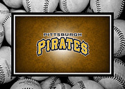 Baseball Bat Photo Framed Prints - Pittsburgh Pirates Framed Print by Joe Hamilton