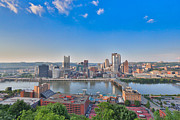 Pittsburgh Pirates Prints - Pittsburgh View Print by Jimmy Taaffe