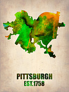 Irina  March - Pittsburgh Watercolor Map