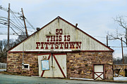 Small Towns Prints - Pittstown - R U Lost Print by Paul Ward