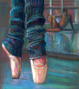 Ballet Dancers Painting Prints - Pivot Print by Laurie VanBalen