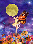 Dancing Girl Framed Prints - Pixie Ballerina Framed Print by Alixandra Mullins