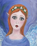 Angel Paintings - Pixie One by Linda Mears
