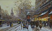 Place De La Republique Paris Print by Eugene Galien-Laloue