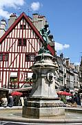 Dijon Framed Prints - Place Francois Rude - Dijon Framed Print by Christiane Schulze