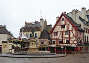 Dijon Framed Prints - Place Francois Rude in Dijon France Framed Print by Carla Parris