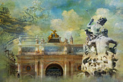 Great Painting Posters - Place Stanislas Place de la Carriere and Place dAlliance in Nancy Poster by Catf