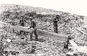 Levis Photo Prints - PLACER GOLD MINING c. 1889 Print by Daniel Hagerman