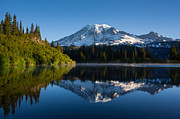Mount Photos - Placid Reflection by Mike Reid