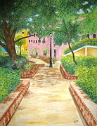 San Juan Paintings - Placita del Viejo San Juan by Adita Torres