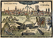 Plague Of London, 1665 Print by Granger