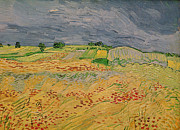 Landscape Posters Painting Posters - Plain at Auvers Poster by Vincent Van Gogh