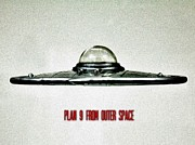 Flying Saucer Prints - Plan 9 From Outer Space Print by Benjamin Yeager