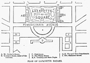 Plan Of Lafayette Square Print by Granger
