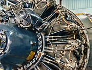 Widow Posters - Plane Engine Close Up Poster by Paul Ward