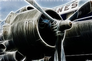 Fractalius Art Posters - Plane Fantasy plane gray  Poster by Paul Ward