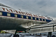 Eastern Air Lines Prints - Plane Fly Eastern Air Lines Print by Paul Ward