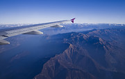 Airlines Photo Originals - Plane Flying In Mountain by Ioan Panaite