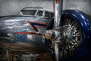 Vintage Blue Prints - Plane - Hey fly boy  Print by Mike Savad