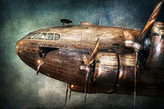 Plane Engine Photos - Plane - Pilot - The flying cloud  by Mike Savad
