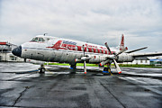 Co-pilot Prints - Plane Props on Capital Airlines Print by Paul Ward