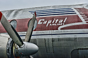 Co-pilot Prints - Plane Vintage Capital Airlines Print by Paul Ward