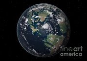 Earth Digital Art - Planet Earth 90 Million Years Ago by Walter Myers