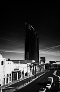 Hilton Prints - planet hollywood towers westgate labelled hilton grand vacations suites and east harmon avenue Las V Print by Joe Fox