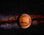Planet - Mars - The Red Planet Print by Paul Ward