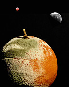 Irrational Photo Framed Prints - Planet Orange Framed Print by Robert Down