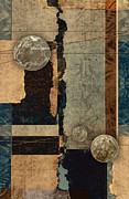 Torn Paper Prints - Planetary Shift #2 Print by Carol Leigh