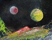 Cosmic Paintings - Planets Painting the Landscape by Mike Cicirelli