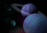 Comets Digital Art - Planets Vs. Dwarf Planets by Ricky Haug