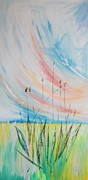 Alternative Painting Originals - Plantago lanceolata L PLANTAIN SMALLE WEEGBREE by PainterArtist FIN