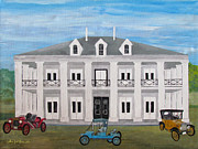 Antique Automobiles Painting Framed Prints - Plantation Mansion Framed Print by William Jack Thomas