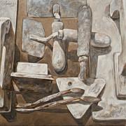 Plasterer's Tools 2 Print by Anke Classen