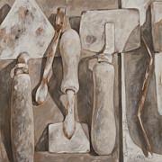 Plasterer's Tools Print by Anke Classen