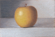 Photo Realism Drawings - Plastic Apple by Liam Harper