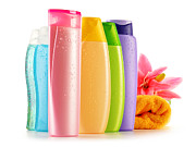 Chemical Originals - Plastic bottles of body care and beauty products by T Monticello