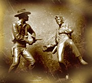Halifax Artist John Malone Prints - Plastic Gunfighters Two Print by John Malone